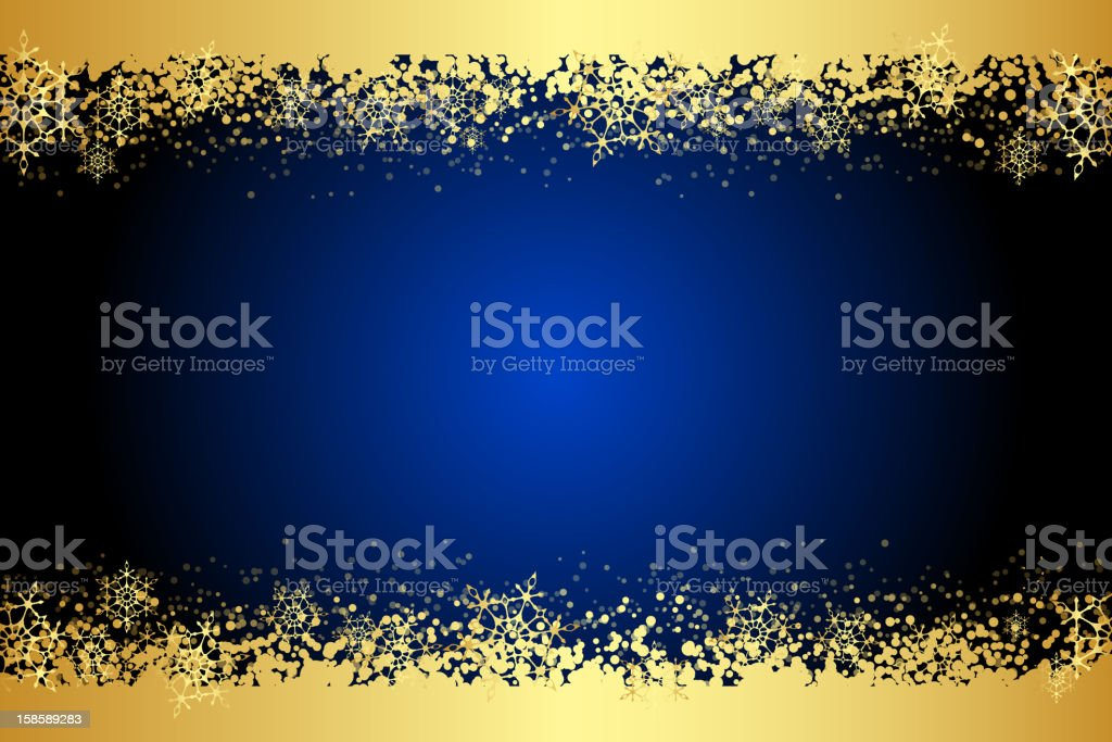 Frame with gold snowflakes royalty-free stock vector art