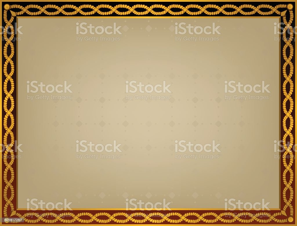 frame with golden twirl royalty-free stock vector art