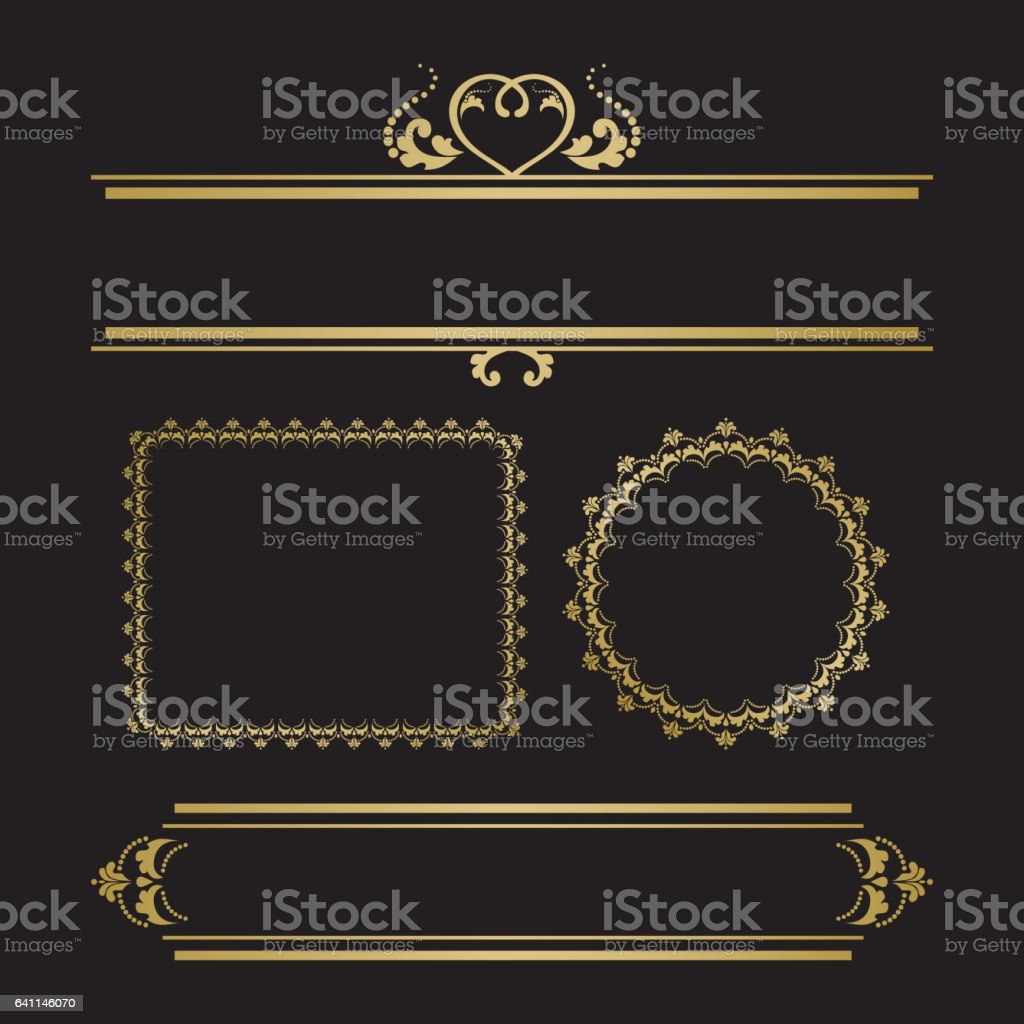 Frame with heart vector art illustration