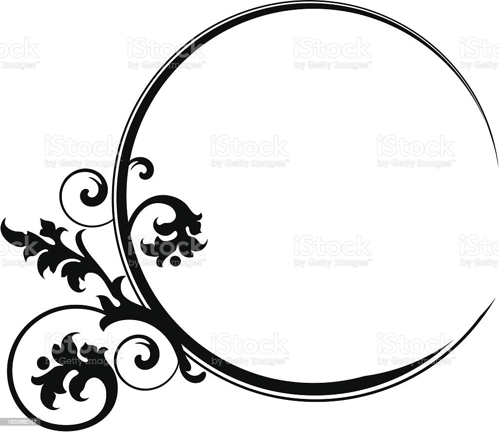 Frame with scroll royalty-free stock vector art