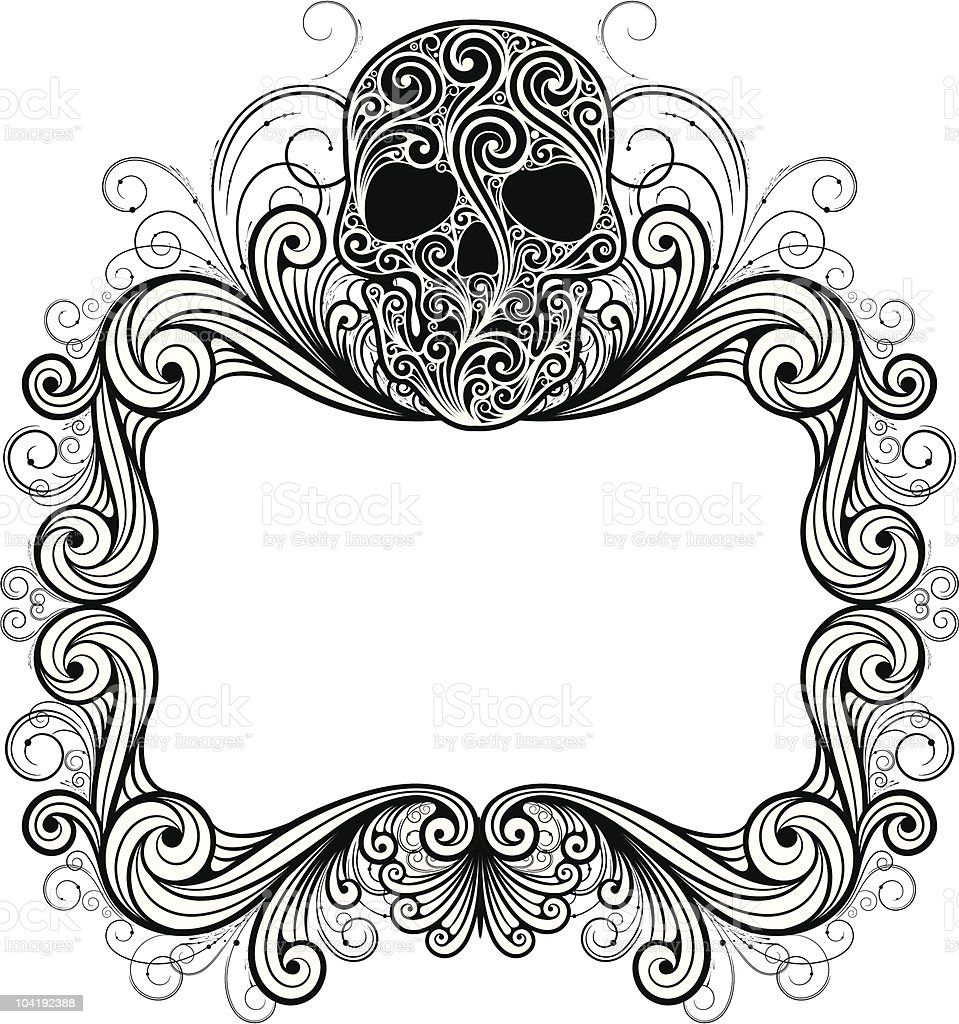 frame with skull royalty-free stock vector art