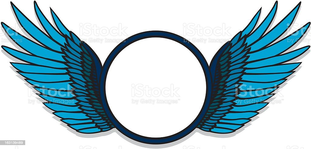 Frame with Wings royalty-free stock vector art