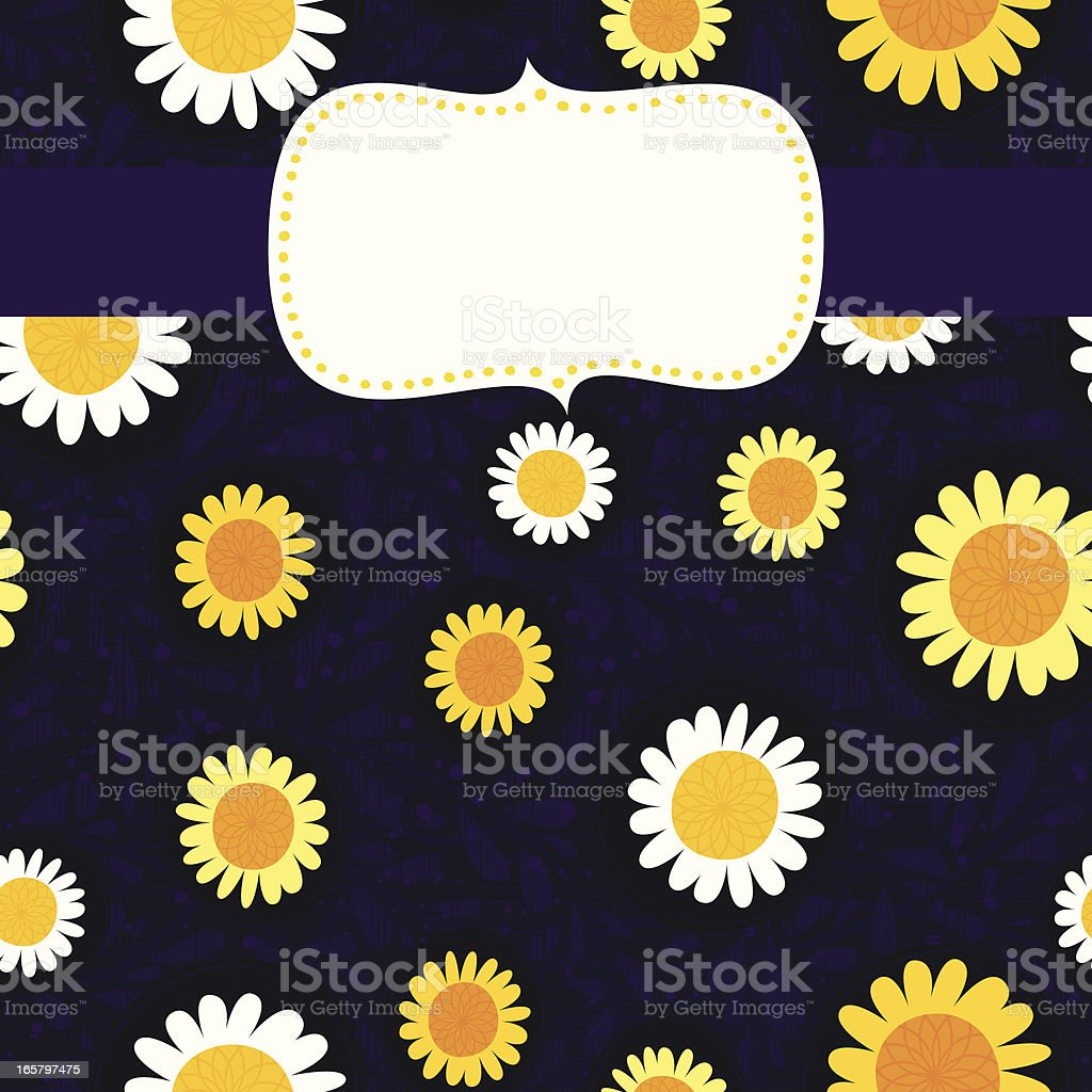 Frame with Yellow Flowers royalty-free stock vector art
