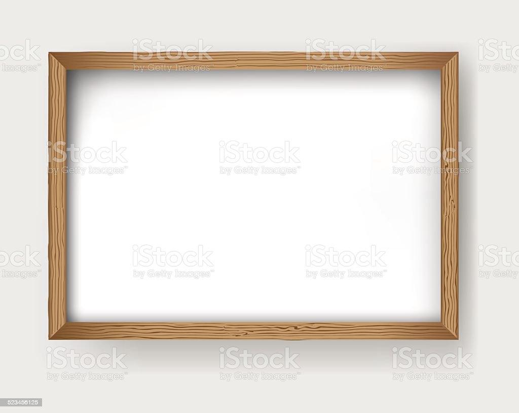 Frame wood vector vector art illustration