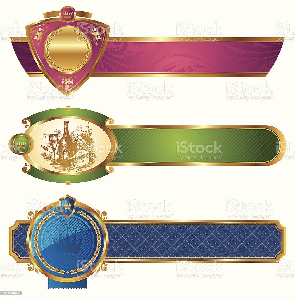 Framed golden luxury banners royalty-free stock vector art