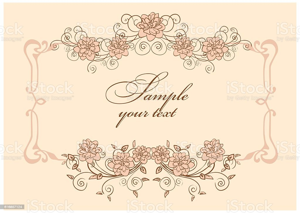 frames covered with flowers vector art illustration