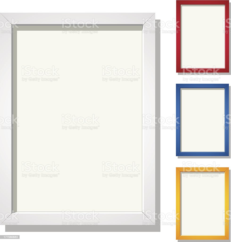 Frames for A4 Image royalty-free stock vector art