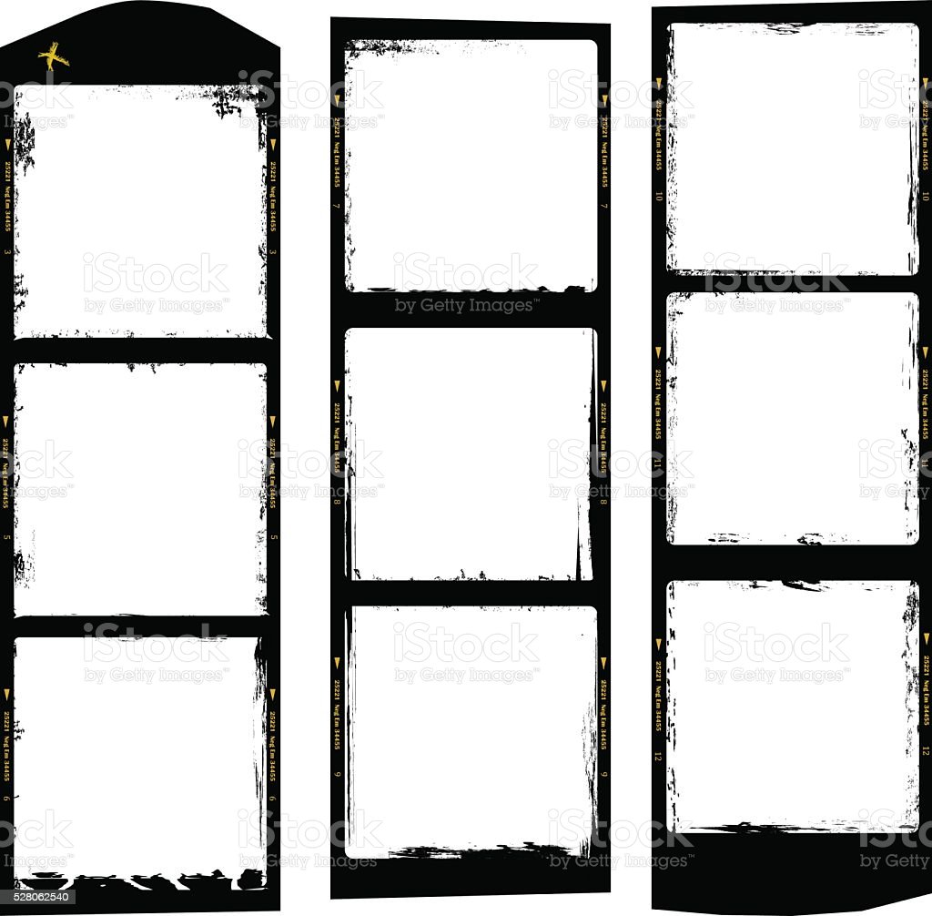 frames of medium format film vector art illustration