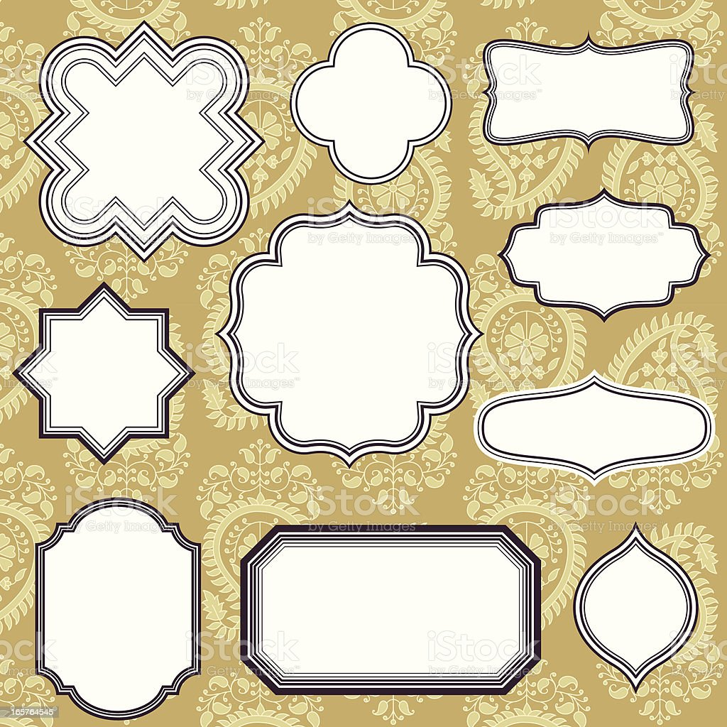 Frames on Seamless Background royalty-free stock vector art
