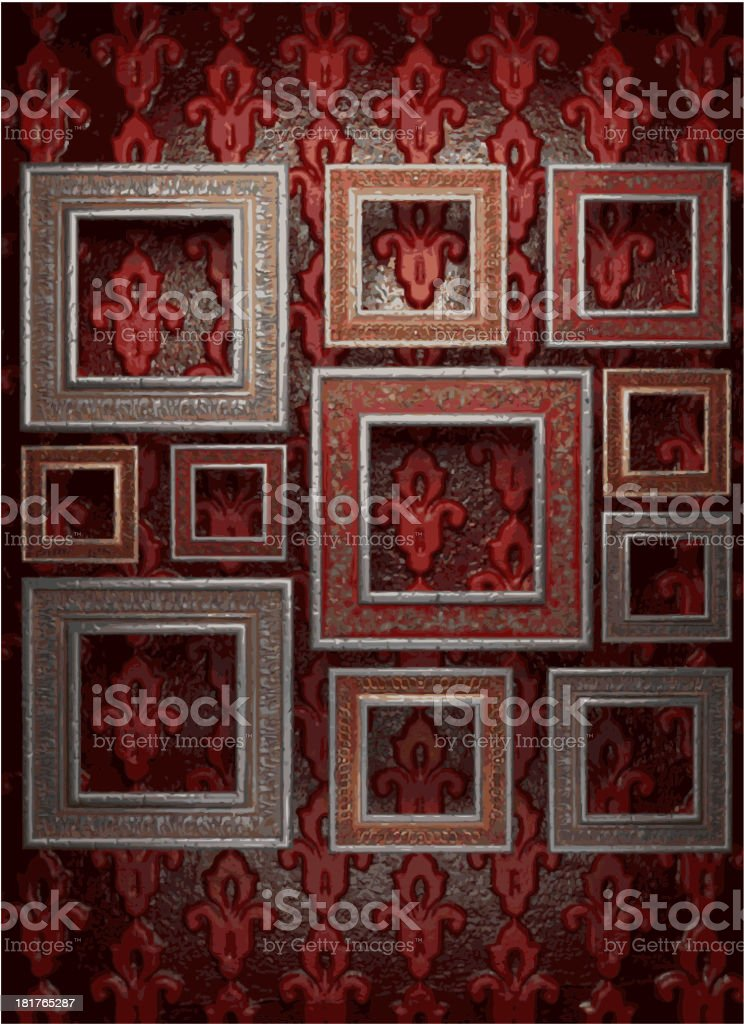 frames on wall royalty-free stock vector art