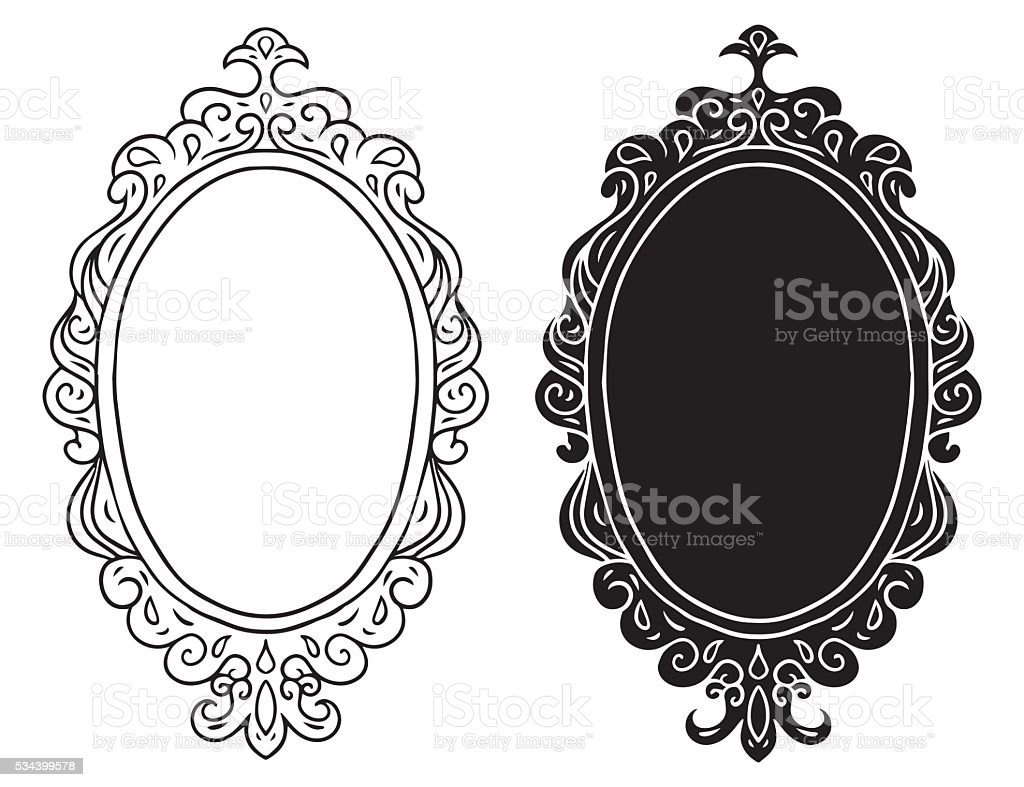 Frames set vector art illustration