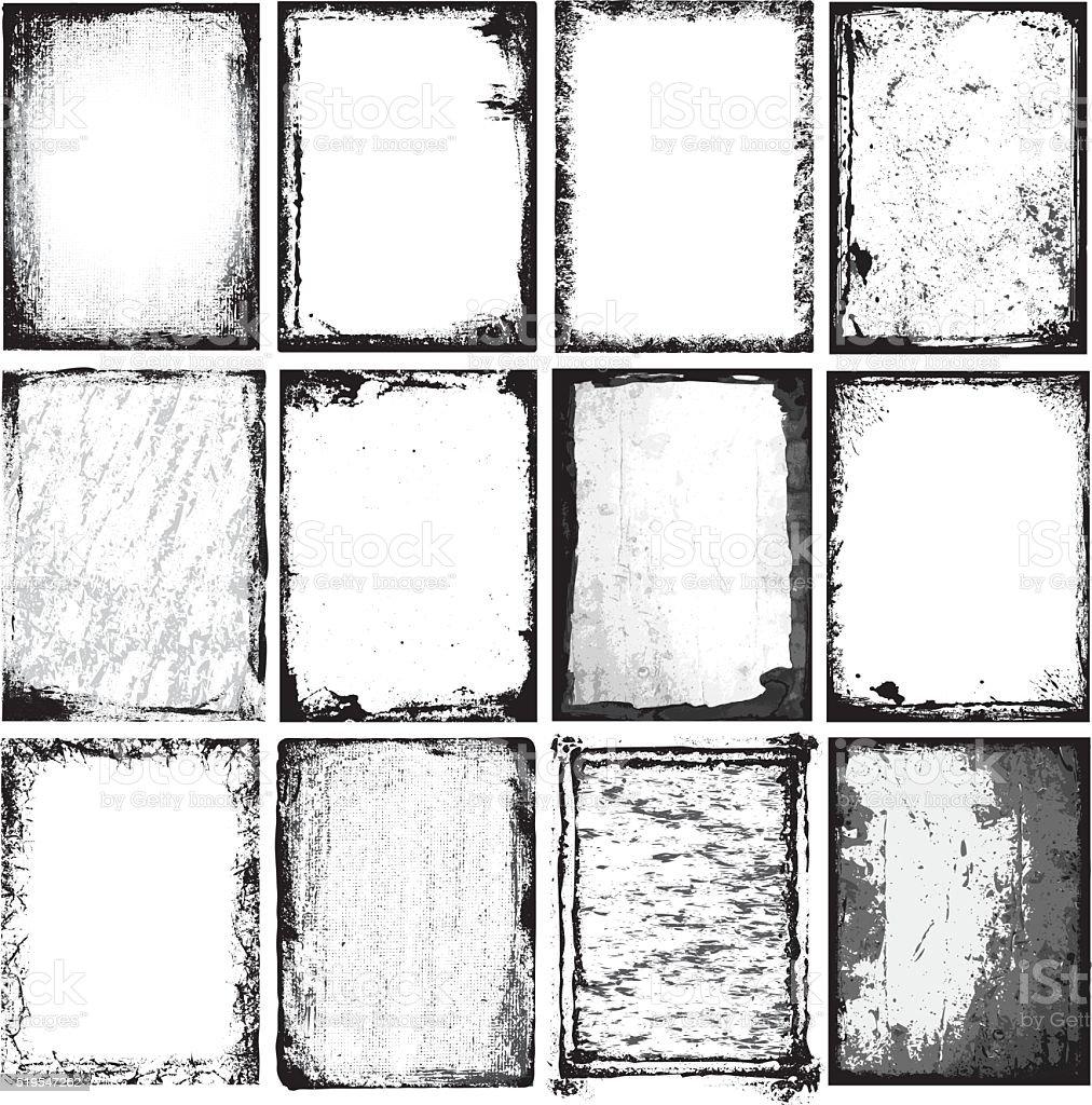 Frames & Textures vector art illustration