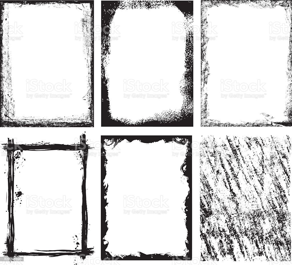 Frames & Textures x 6 vector art illustration