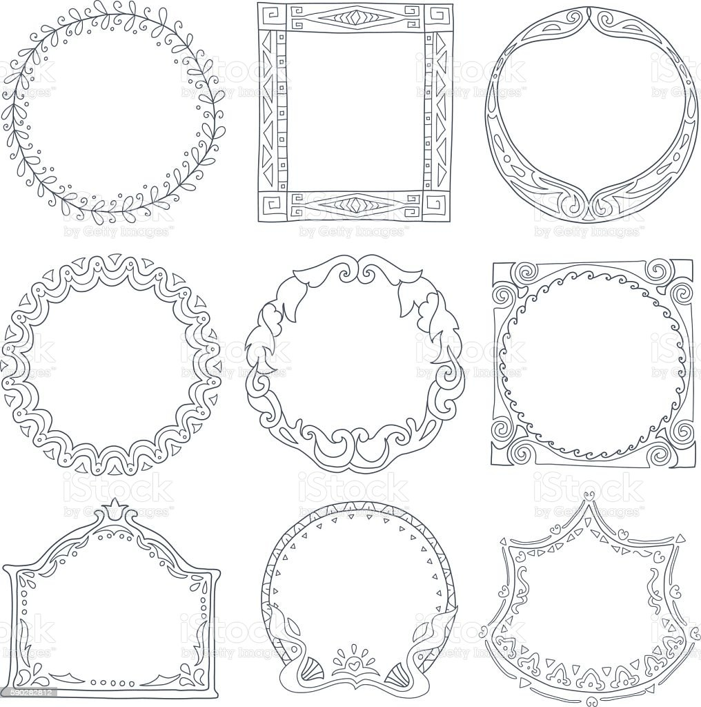 Frames. vector art illustration