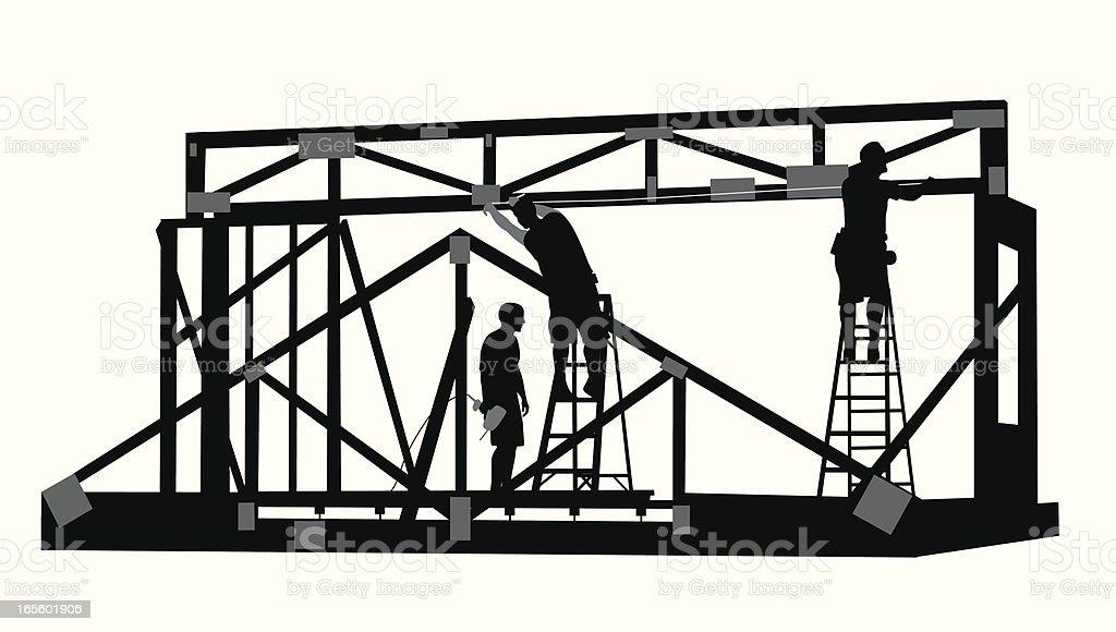 Framing Vector Silhouette royalty-free stock vector art