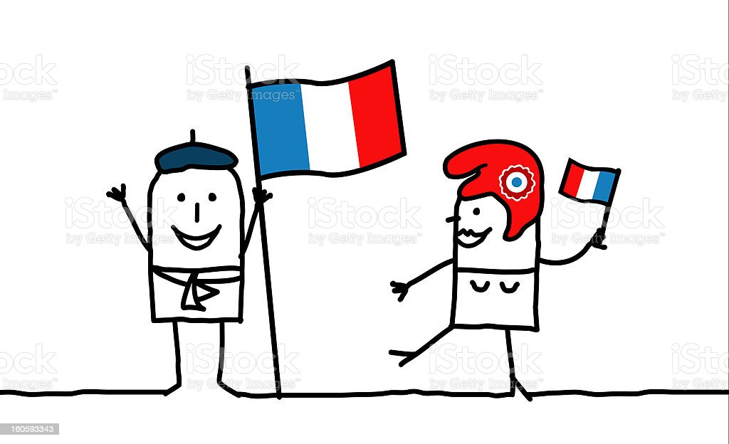 France & french people vector art illustration