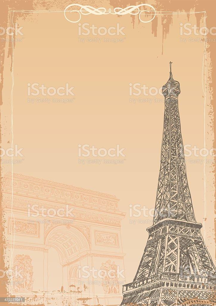 France Background vector art illustration
