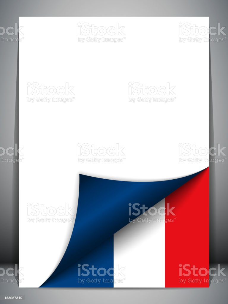 France Country Flag Turning Page royalty-free stock vector art
