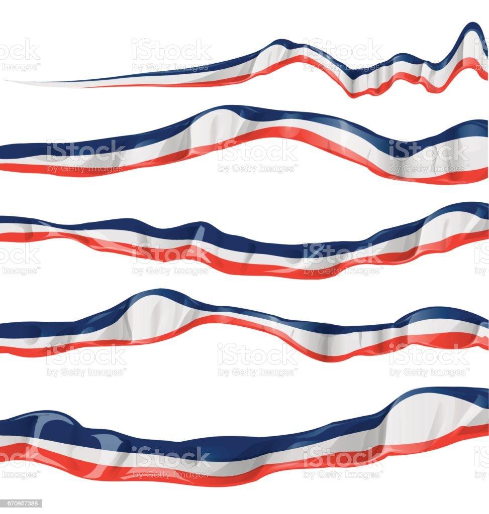 france flag collection horizontal on white background vector art illustration