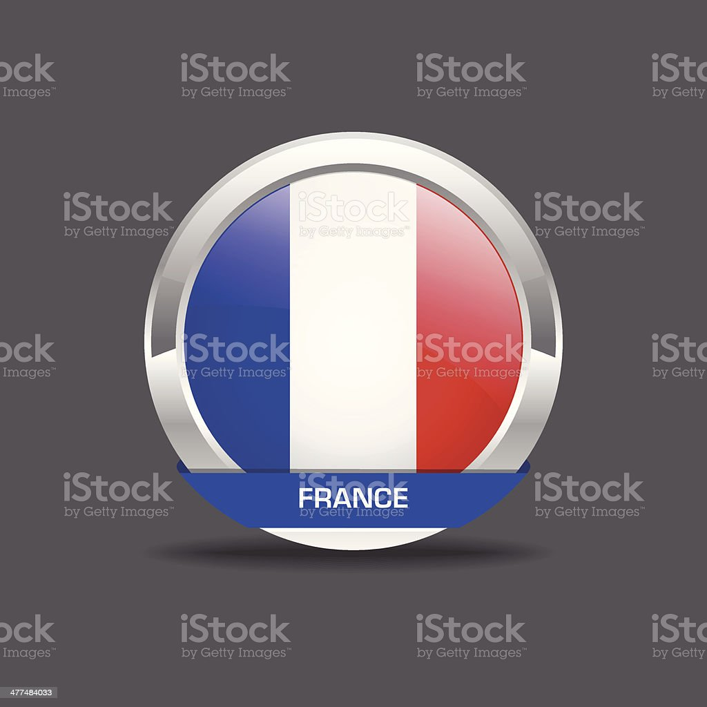 France Flag Vctor Icon vector art illustration