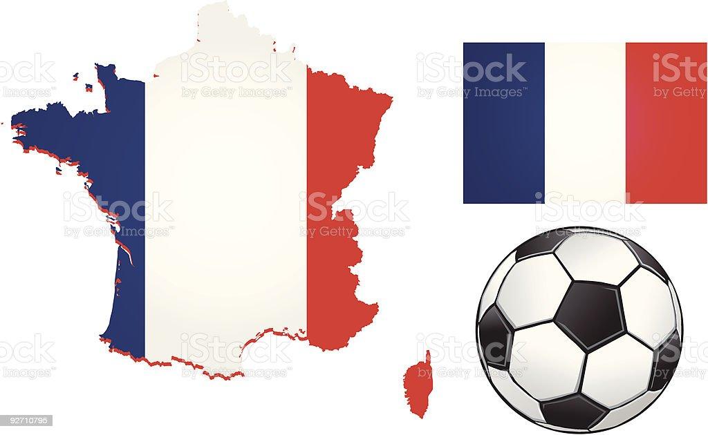 France Football royalty-free stock vector art