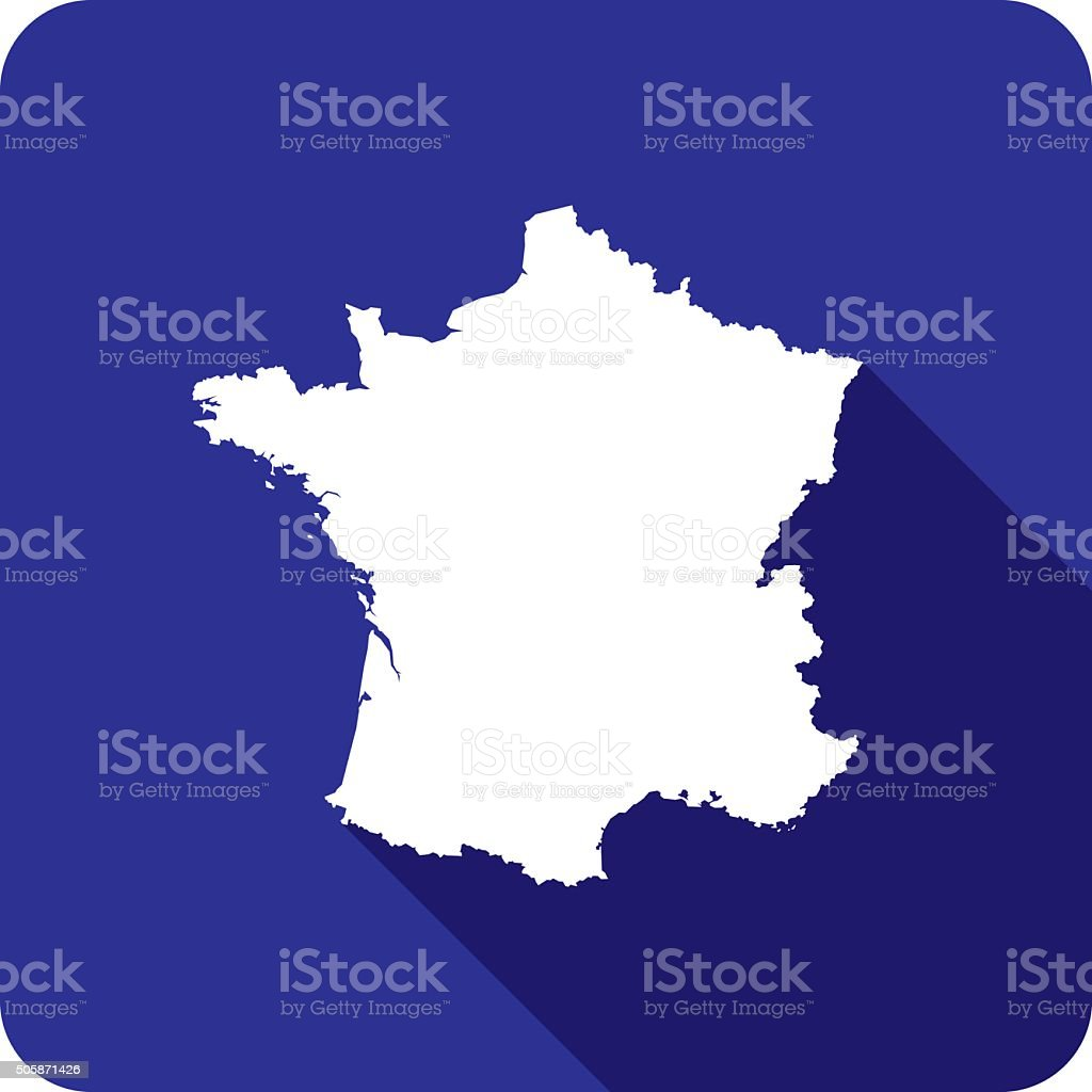 France Icon Silhouette vector art illustration