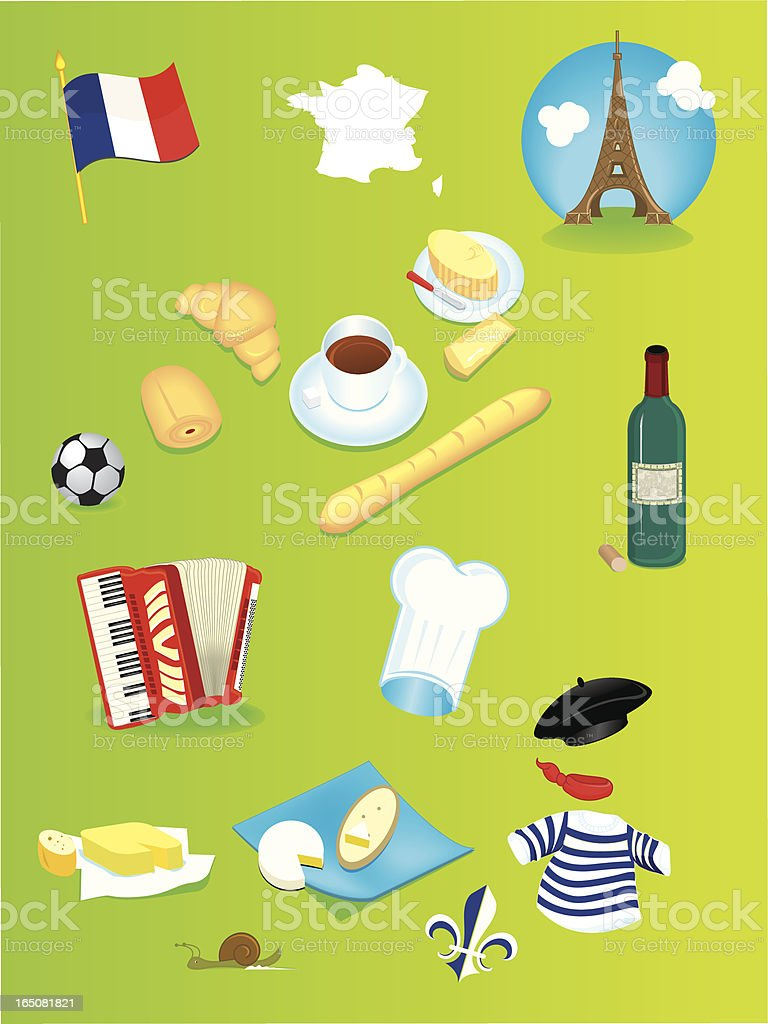 france icons royalty-free stock vector art