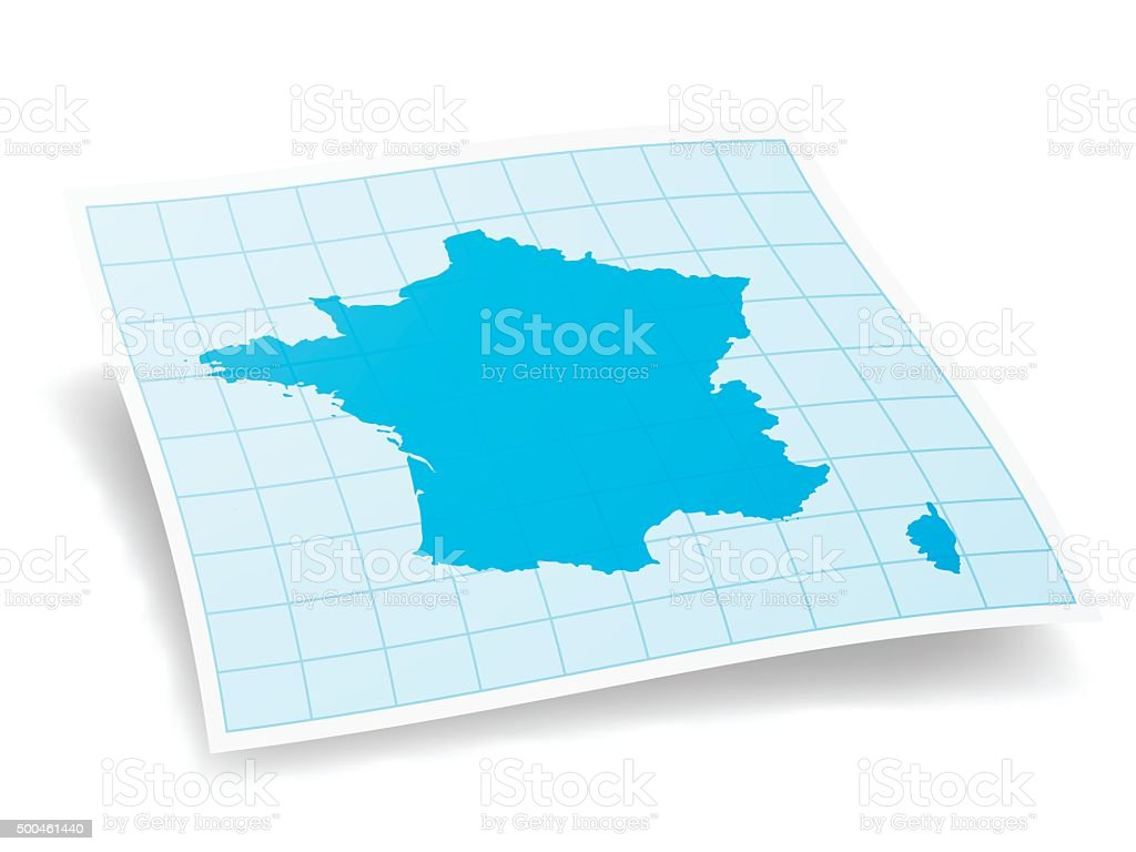 France Map isolated on white Background vector art illustration