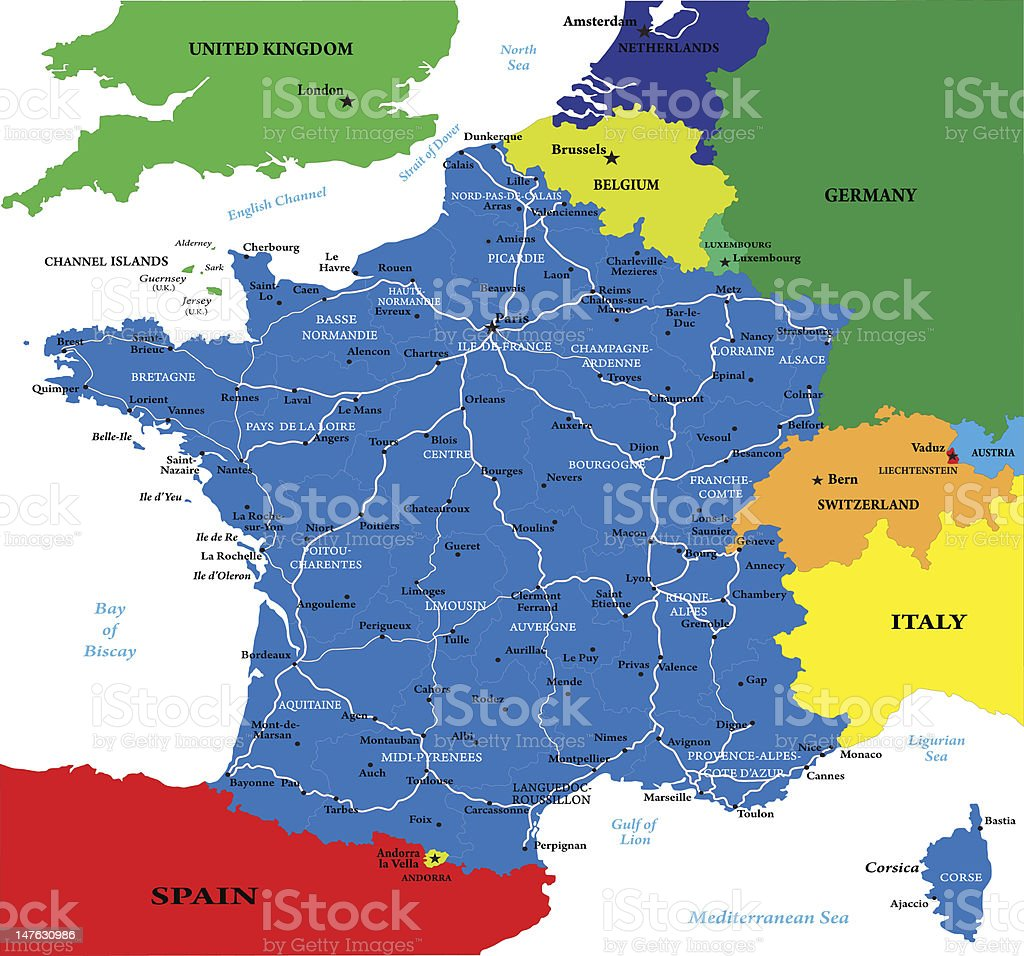 France map royalty-free stock vector art