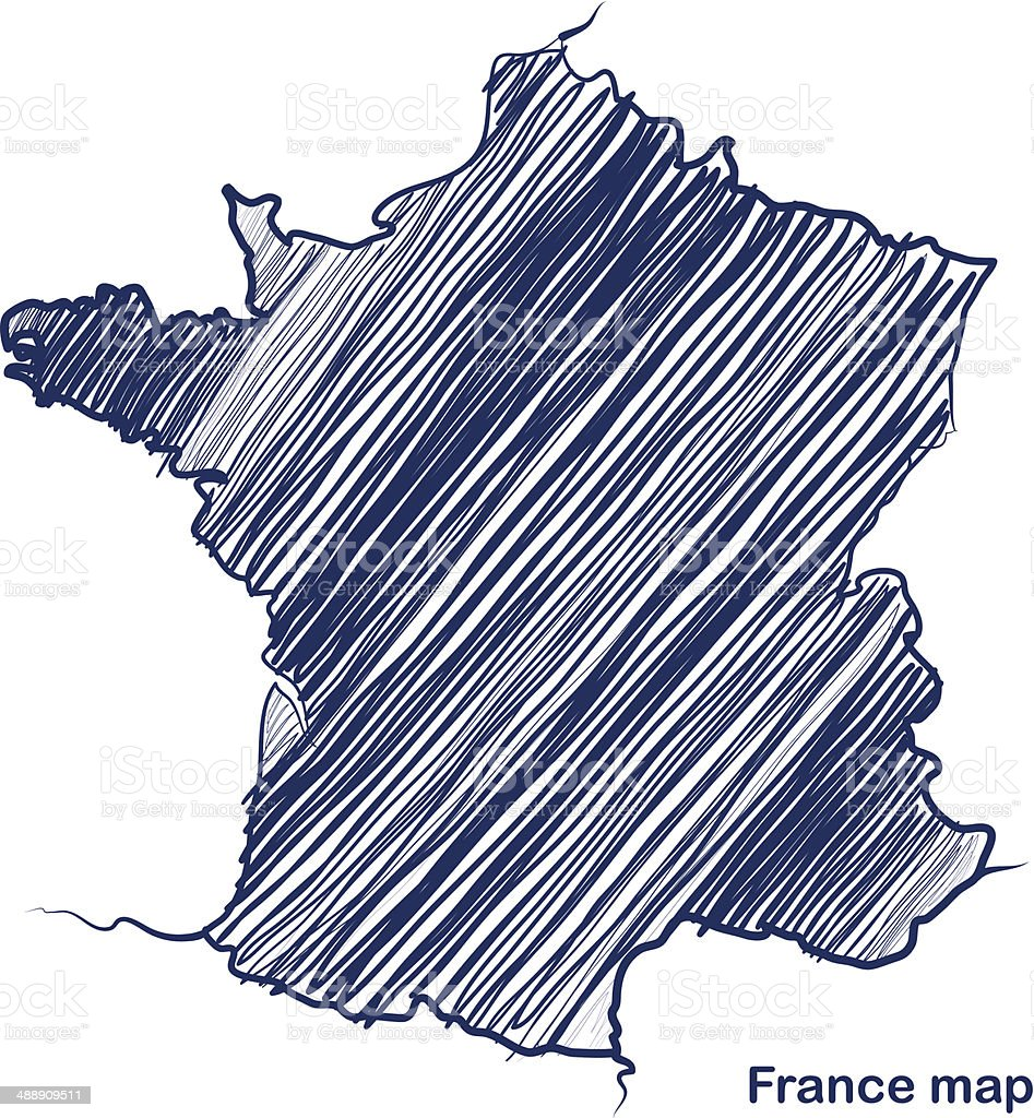 France map vector art illustration