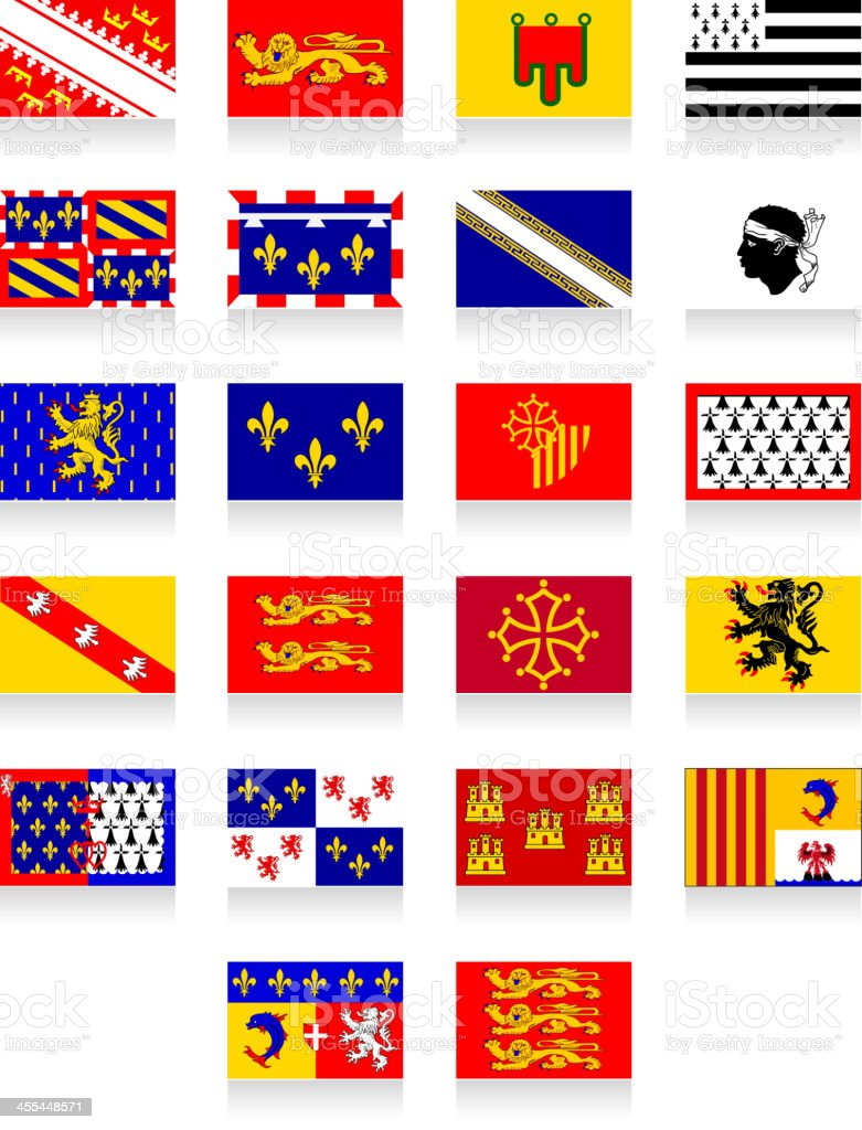 France region flags royalty-free stock vector art