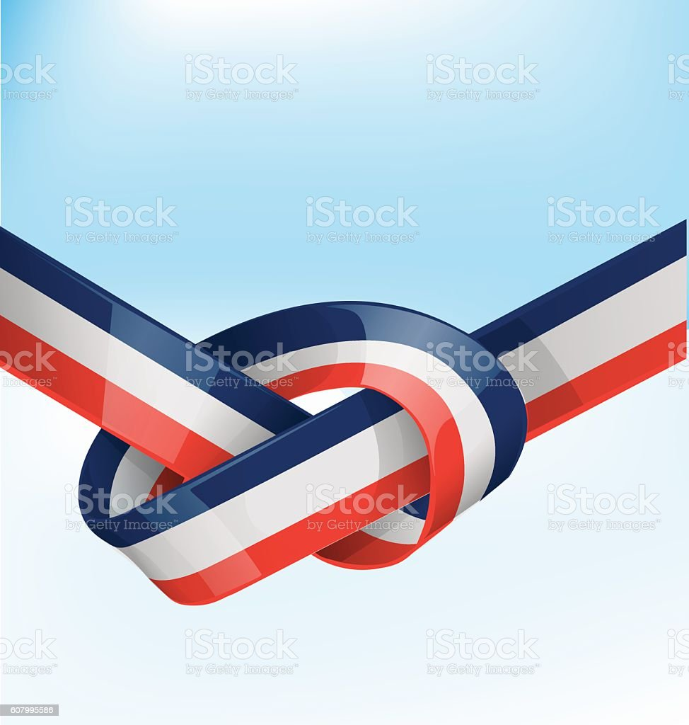 france ribbon flag vector art illustration