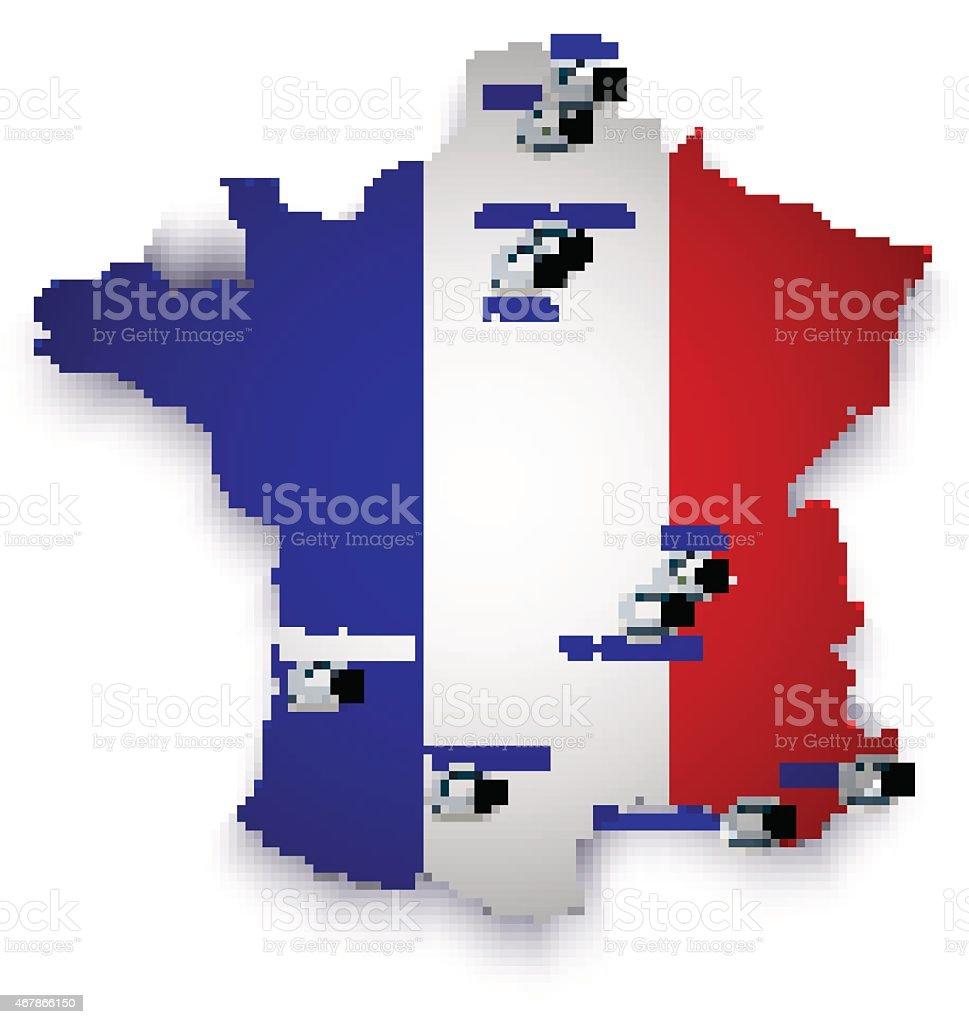 Carte du stade de football de France stock vecteur libres de droits libre de droits