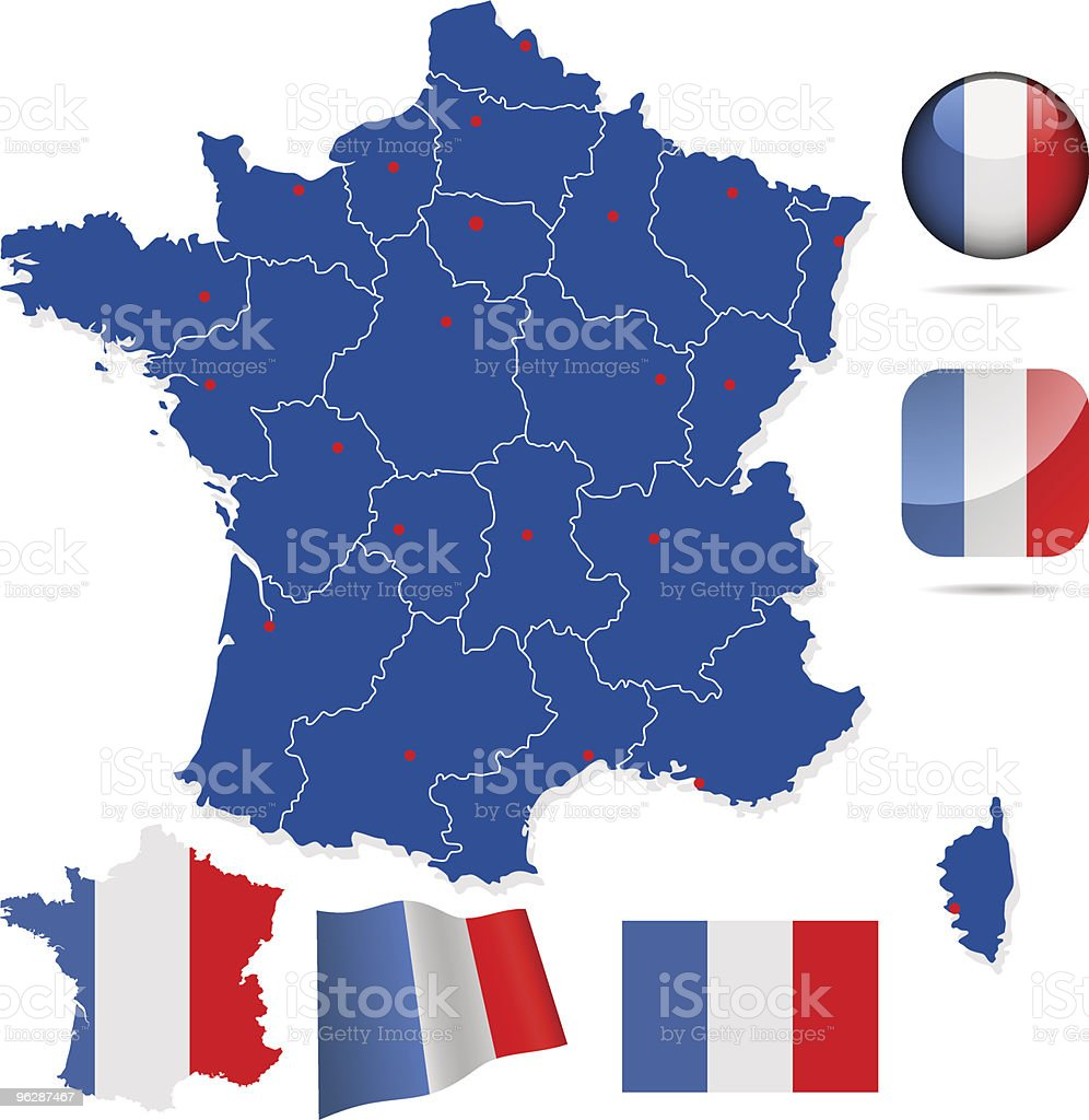 France vector set. royalty-free stock vector art