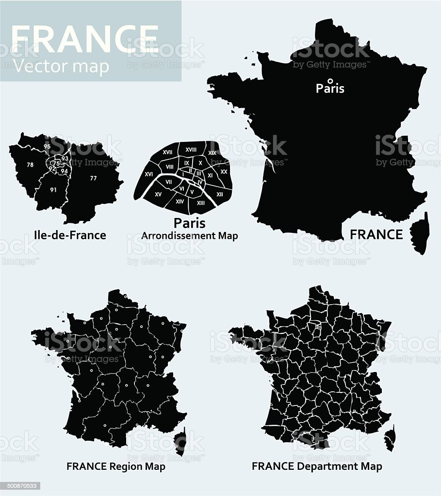 France-vector map vector art illustration
