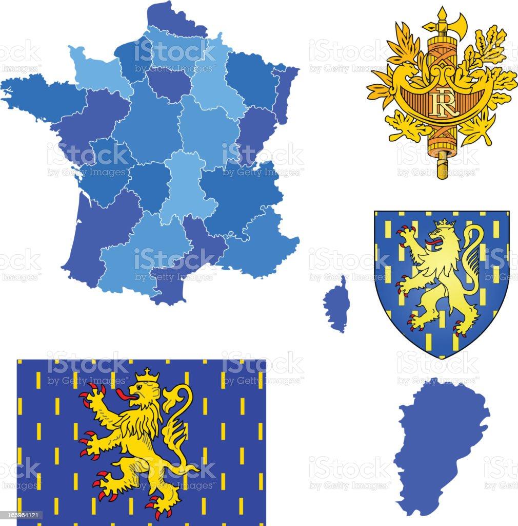 Franche-Comte region set royalty-free stock vector art
