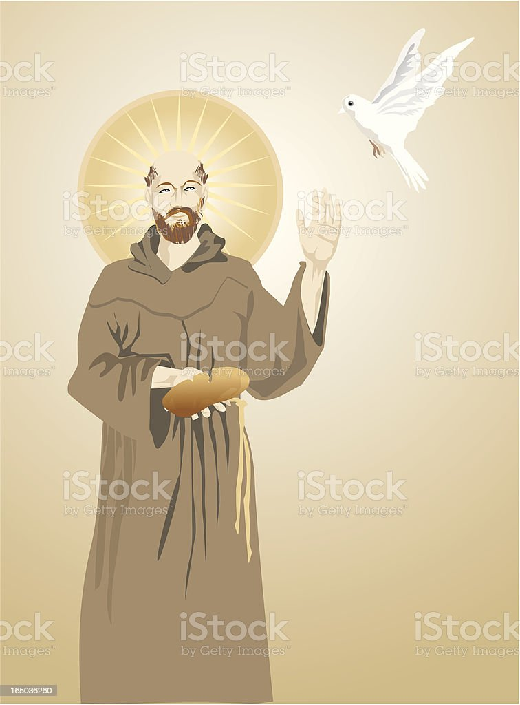 franciscan friar - REQUESTED royalty-free stock vector art