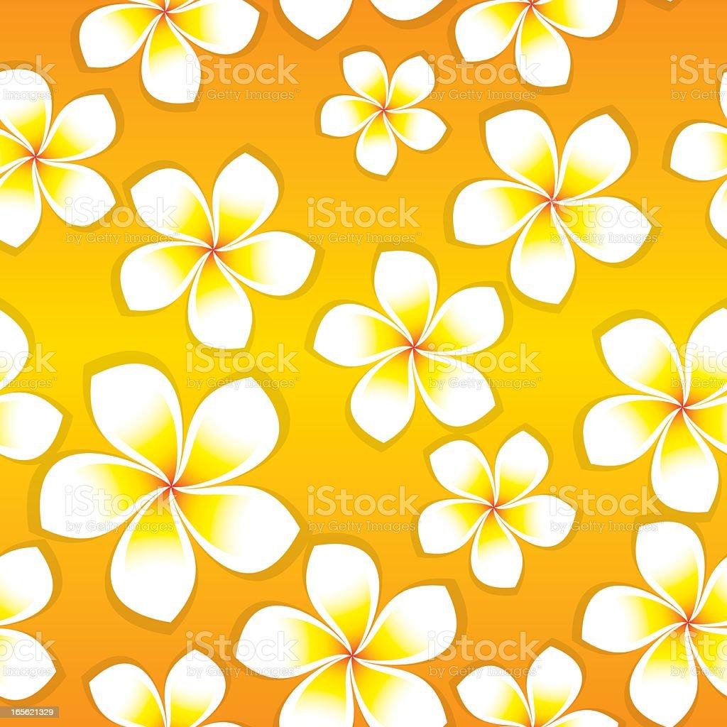 Frangipani Flowers - Seamless Tile vector art illustration