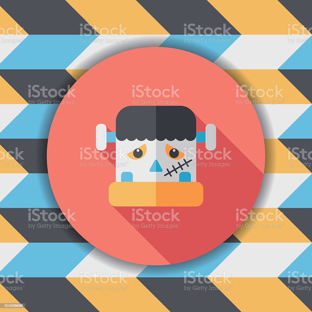 b0996fa1732 Frankenstein Flat Icon With Long Shadoweps10 stock vector art ...