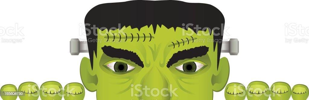Frankenstein Halloween Border royalty-free stock vector art