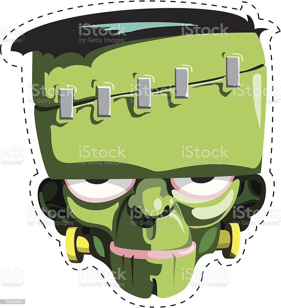 Франкенштейн маска Сток Вектор 163825834 iStock