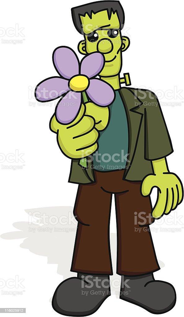 Frankenstein with Flower royalty-free stock vector art
