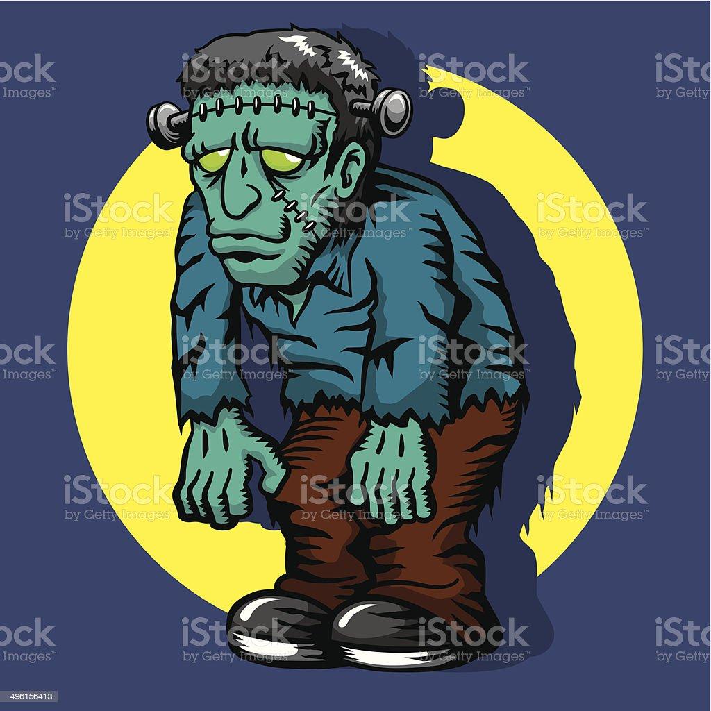Frankenstein's Monster royalty-free stock vector art