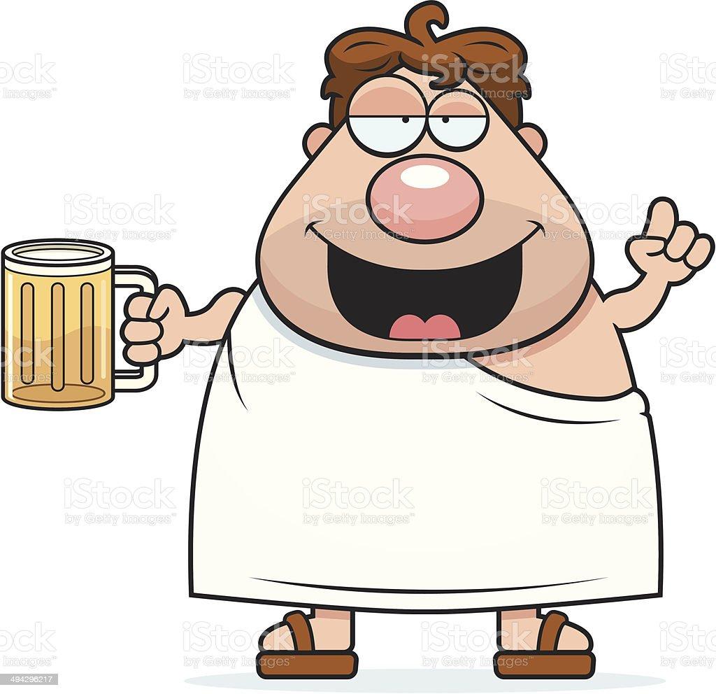 Frat Boy Drunk vector art illustration