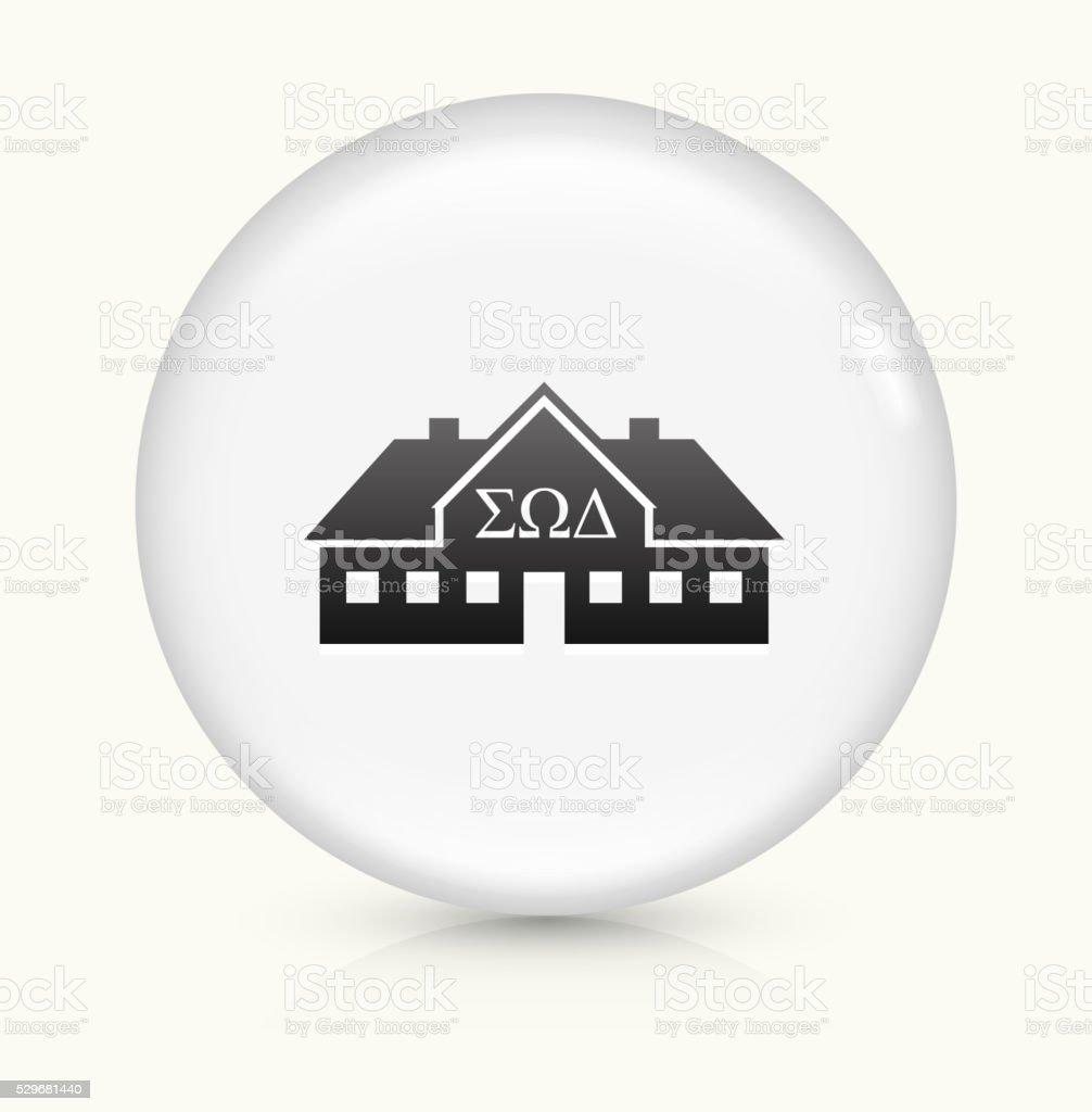 Frat House icon on white round vector button vector art illustration