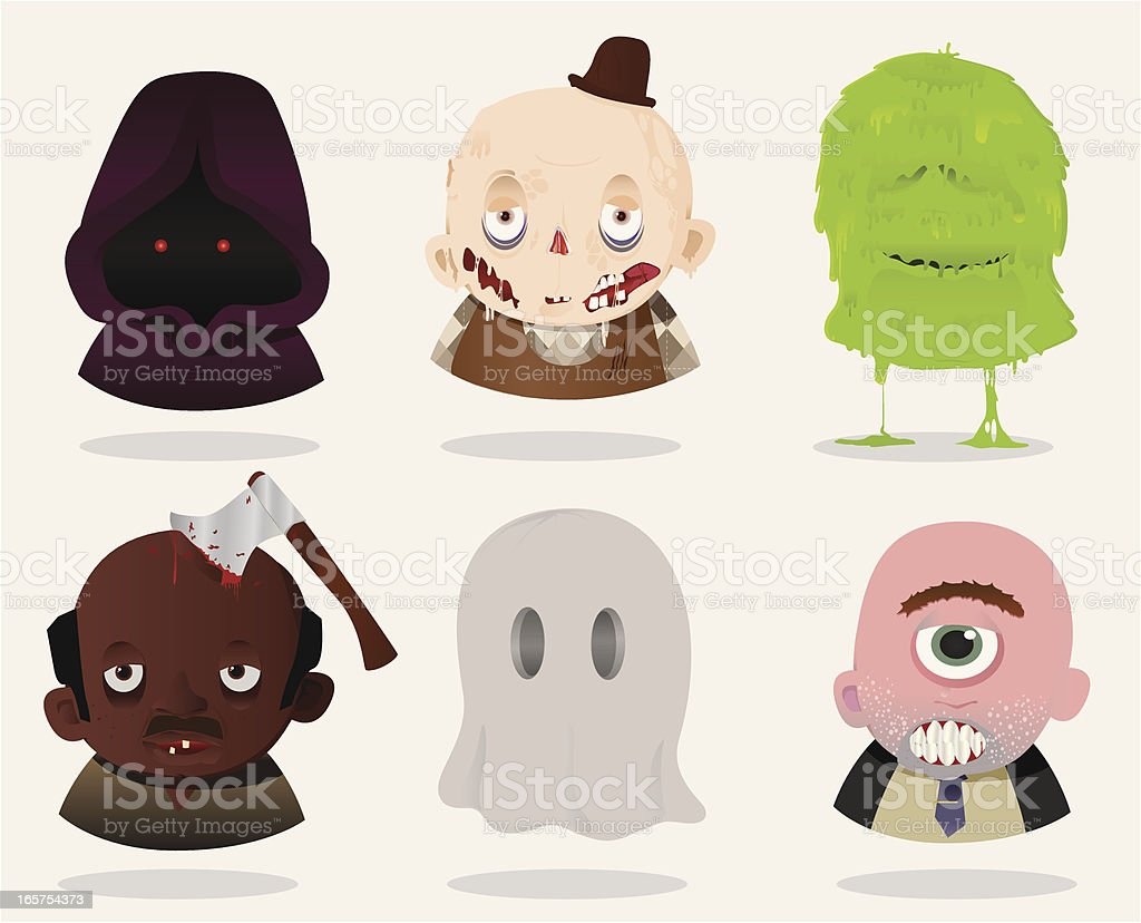 Freaks royalty-free stock vector art