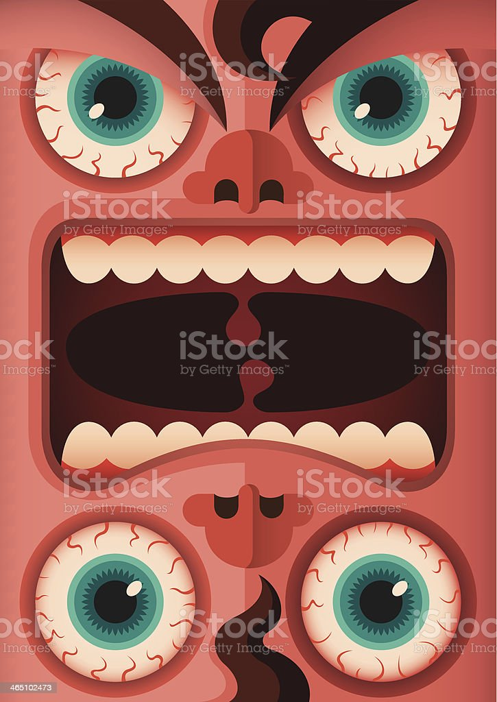 Freaky human face. royalty-free stock vector art