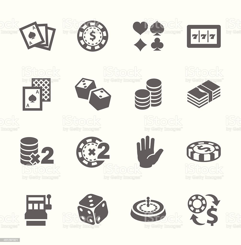Free and premium gaming & gambling icons vector art illustration