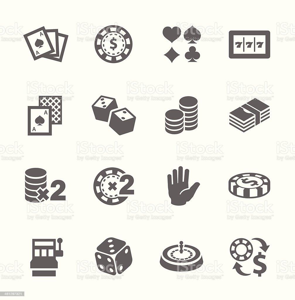 Free and premium gaming & gambling icons vector art illustration