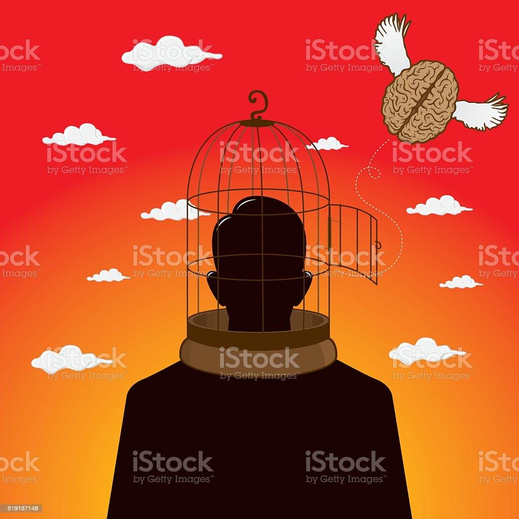 Free brain vector art illustration